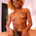 Black-Tgirls Pooh is a sexy tgirl with a hot slim body