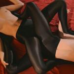 StraplessDildo presents Maria Pie, Rossy Bush in Sex In Silky Black Pantyhose