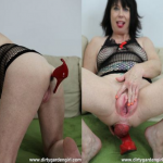 DirtyGardenGirl – Pussy pump, prolapse and red shoe – 21.02.2016