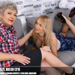 Mature.nl – Klaudia D. (57), Kelsi (21) – Horny old and young lesbian couple fooling around